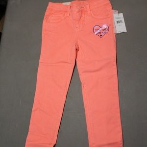 Celebrity Pink Little Girls Size 6 Pants Peach